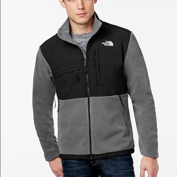 652cdb45a north face men's denali jacket grey/bulk small
